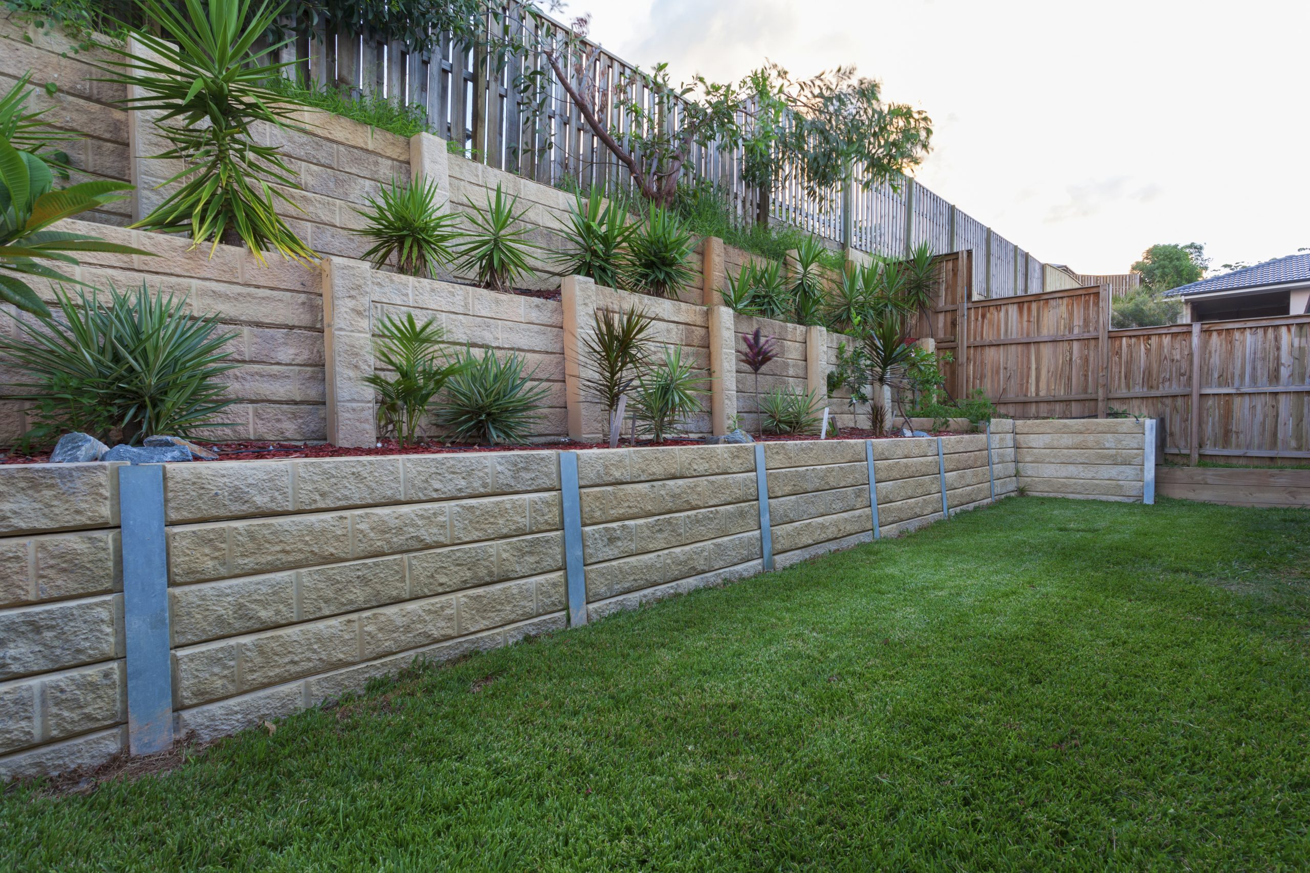 Concrete Sleeper Retaining Wall